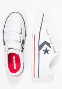 Converse - STAR PLAYER TRIPLE  - Sneakersy niskie - white/navy/red - 0