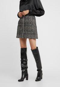 The Kooples - JUPE - A-line skirt - off-white/black - 0