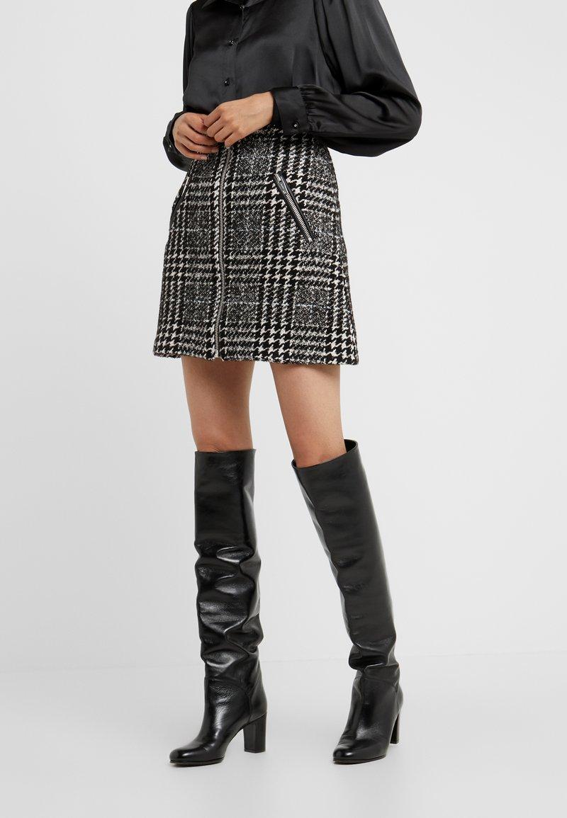 The Kooples - JUPE - A-line skirt - off-white/black