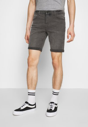 ONSPLY SLIM - Denim shorts - grey denim