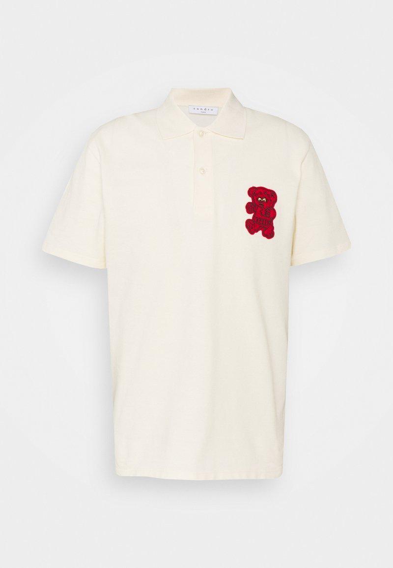 sandro - TEDDY - Polo shirt - ecru