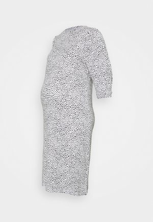 MLBEATRICE DRESS - Jersey dress - snow white/black