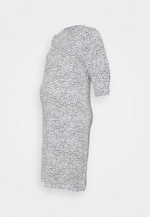MLBEATRICE DRESS - Žerzejové šaty - snow white/black