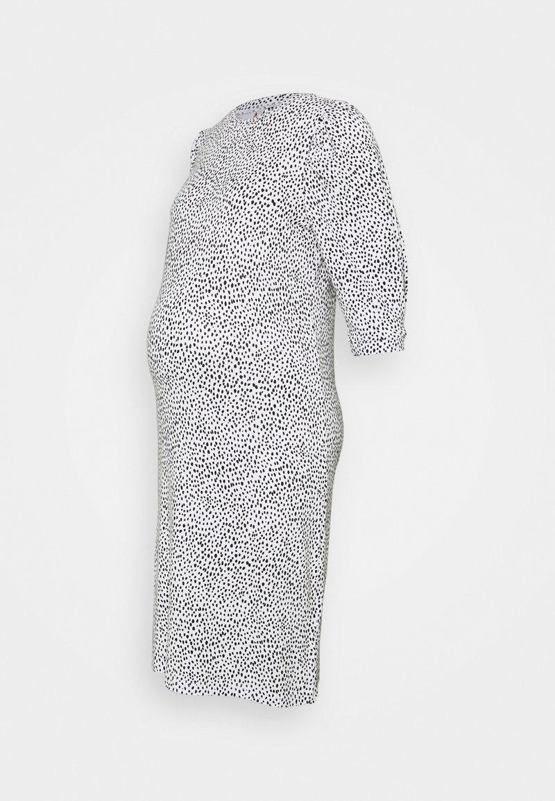 MAMALICIOUS - MLBEATRICE DRESS - Jersey dress - snow white/black