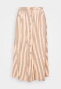 ONLJOLLA SKIRT  - A-line skirt - peach melba/cloud dancer