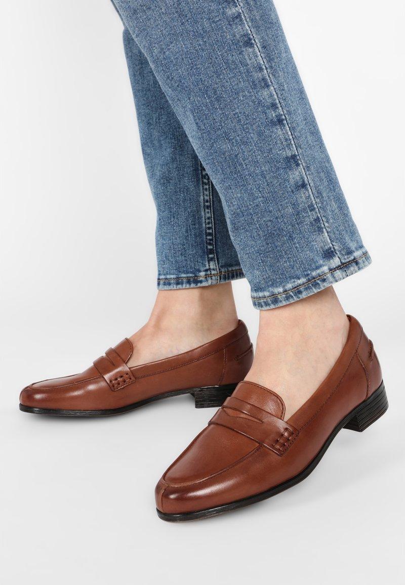 Clarks - HAMBLE  - Slip-ons - light brown