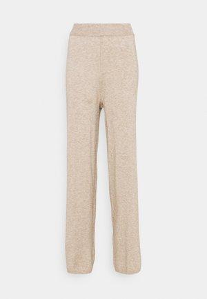 ONLLELY PANTS - Spodnie materiałowe - beige/melange