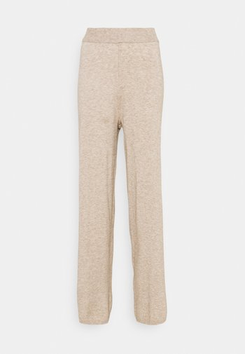 ONLLELY PANTS - Trousers - beige/melange