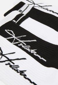 Hollister Co. - LOGO CREW  5 PACK - Socks - black/white - 1