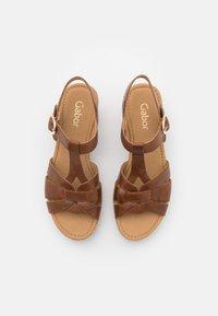 Gabor - Platform sandals - peanut - 5