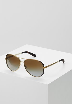 Sonnenbrille - gold/dark chocolate brown