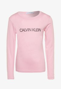 Calvin Klein Jeans - INSTITUTIONAL LOGO  - Long sleeved top - pink - 0