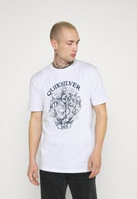 Quiksilver - QUIET DARKNESS  - Print T-shirt - white - 0