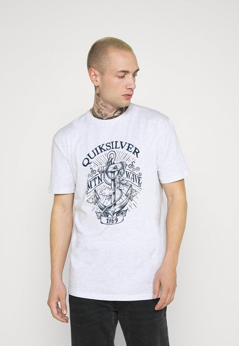 Quiksilver - QUIET DARKNESS  - Print T-shirt - white