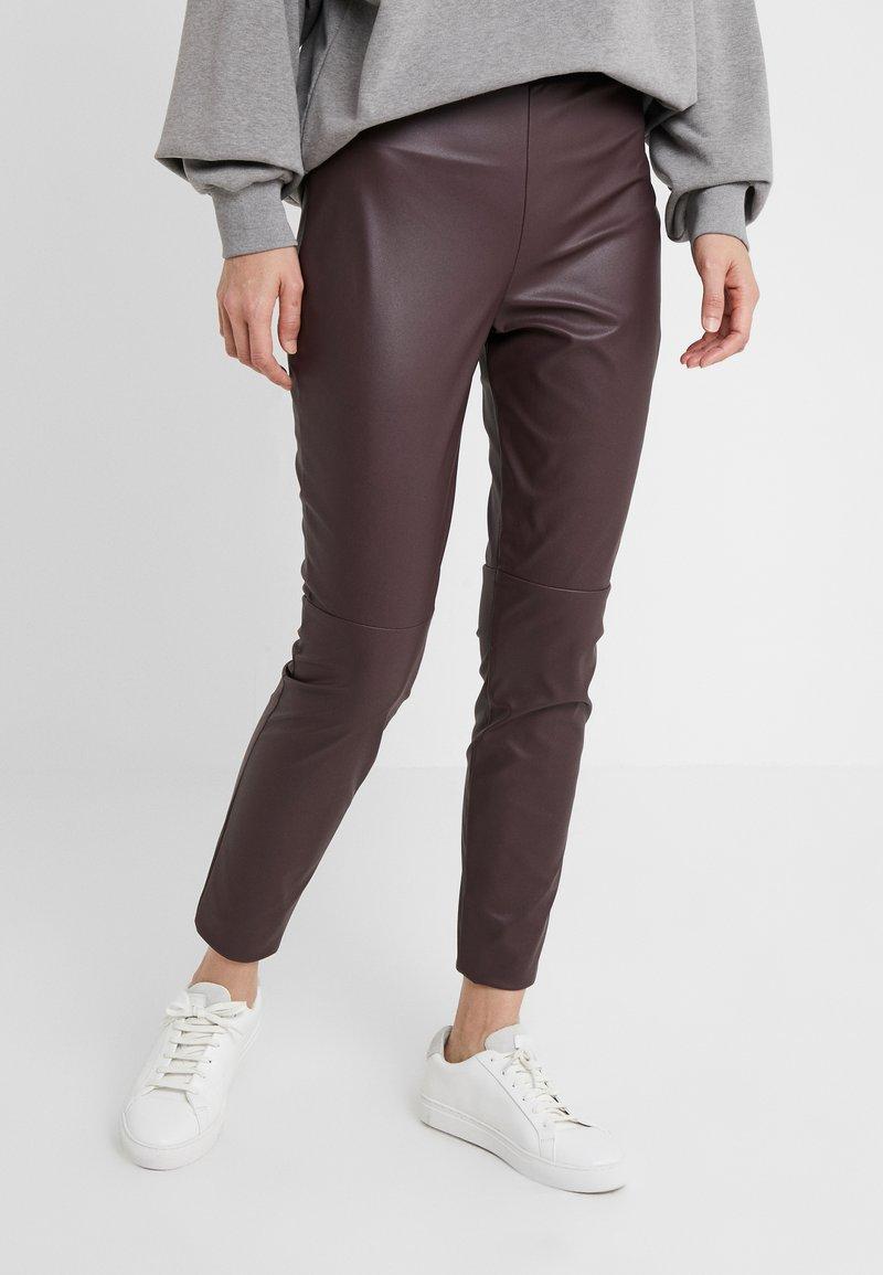 HUGO - HONATI - Leggings - medium red