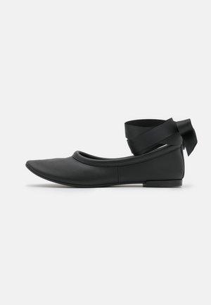 RACHELLE - Ankle strap ballet pumps - noir