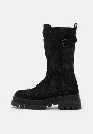 Platform boots - shire antracite
