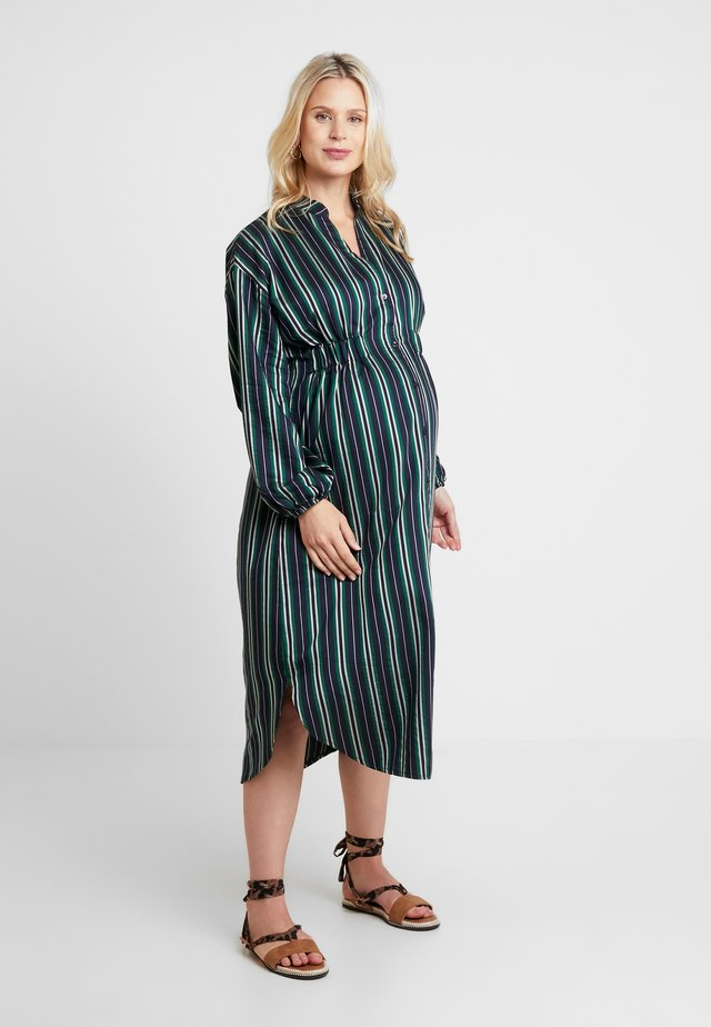 DRESS MILENA - Abito a camicia - navy/green
