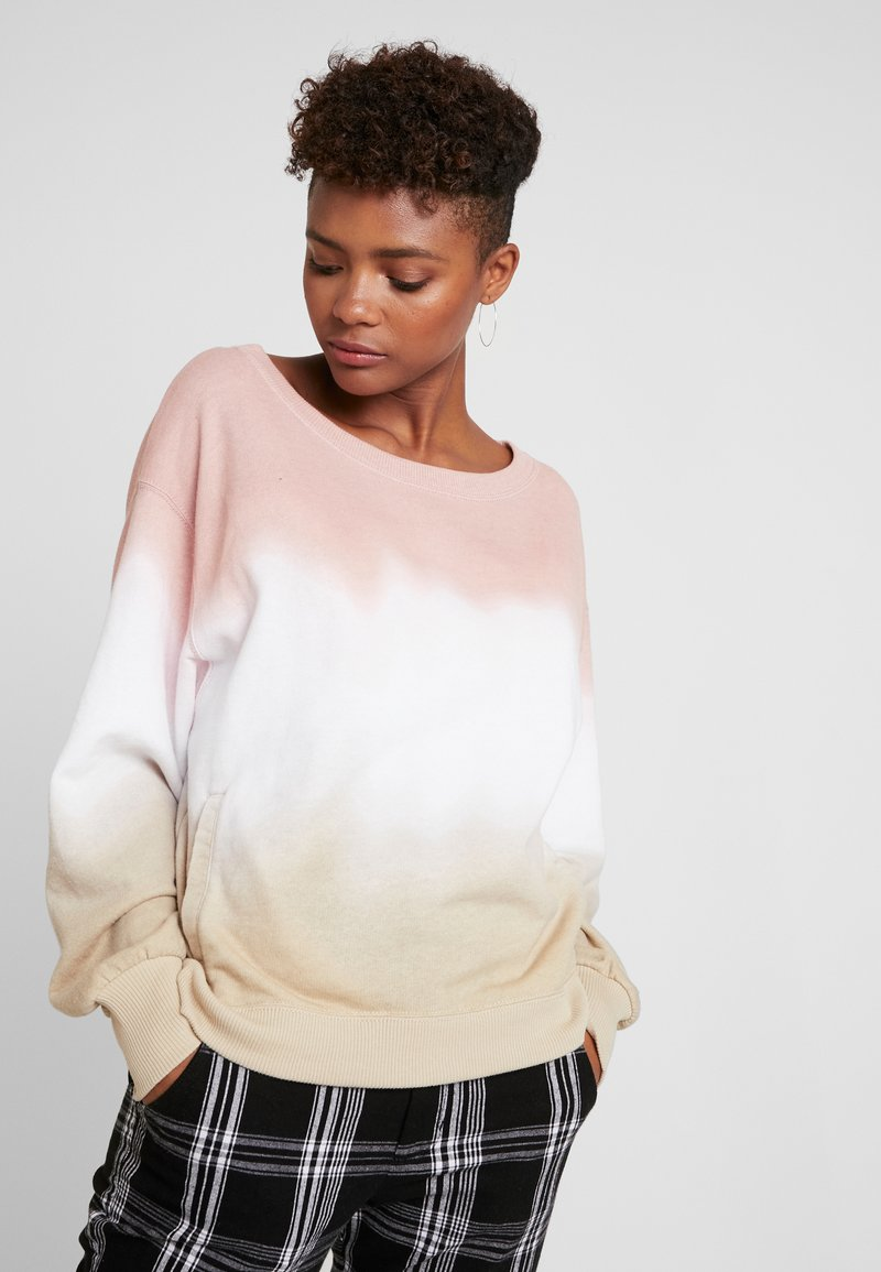 Hollister Co. - OVERSIZED CREW - Sweatshirt - pink ombre