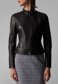 BOSS - SAFLAMA - Leather jacket - black - 4