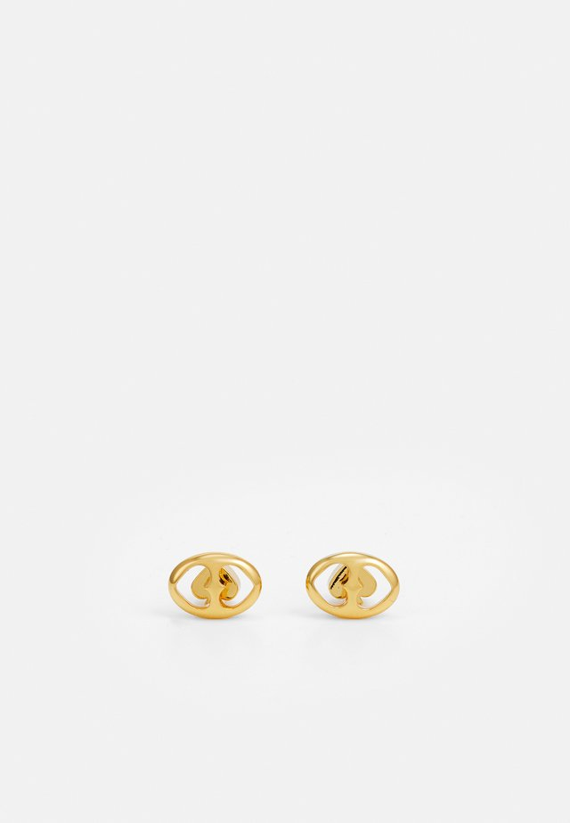 DUO LINK STUDS - Náušnice - gold-coloured
