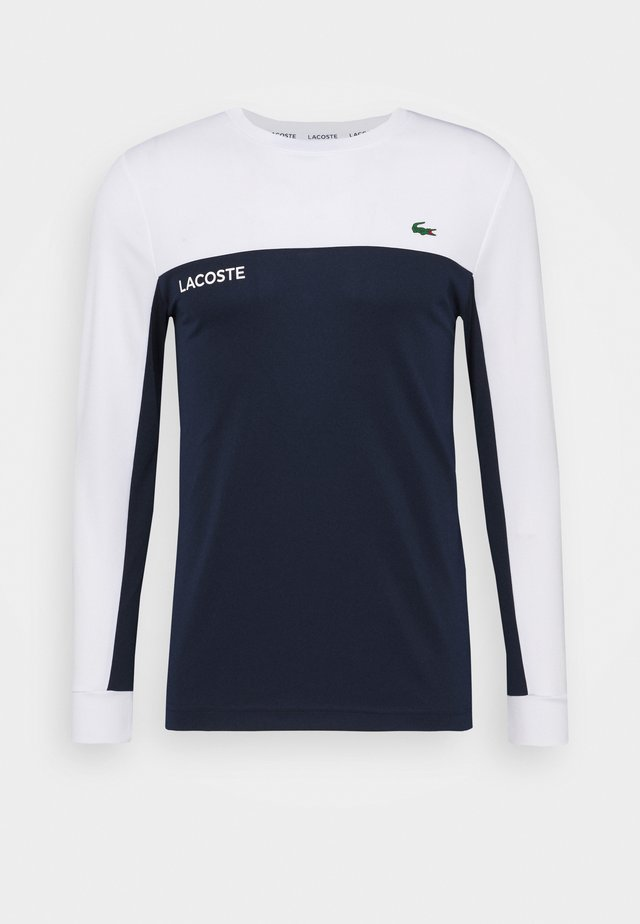 TENNIS BLOCK - Sports shirt - white/navy blue