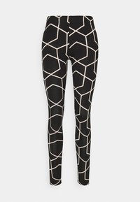 Noisy May - NMANILLA - Leggings - Trousers - black/with chateau gray graphic - 0