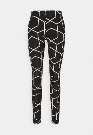 NMANILLA - Leggings - Trousers - black/with chateau gray graphic