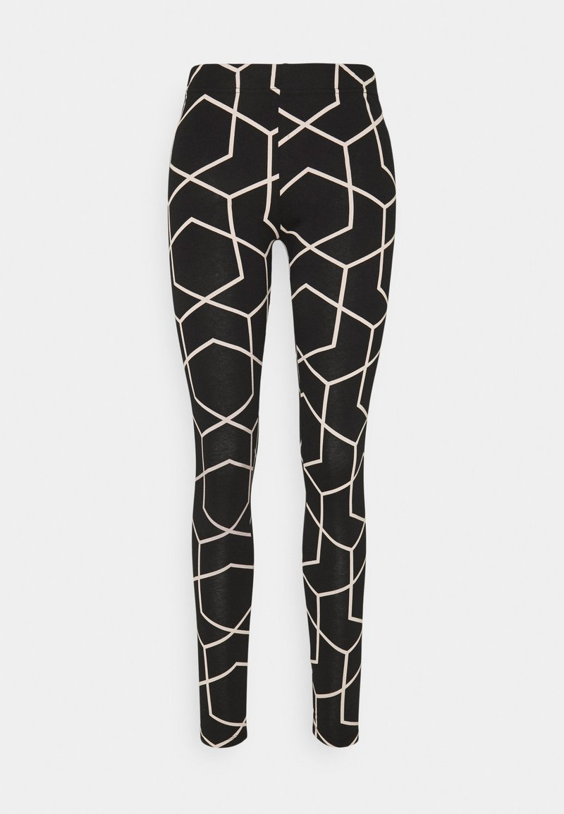 Noisy May - NMANILLA - Leggings - Trousers - black/with chateau gray graphic