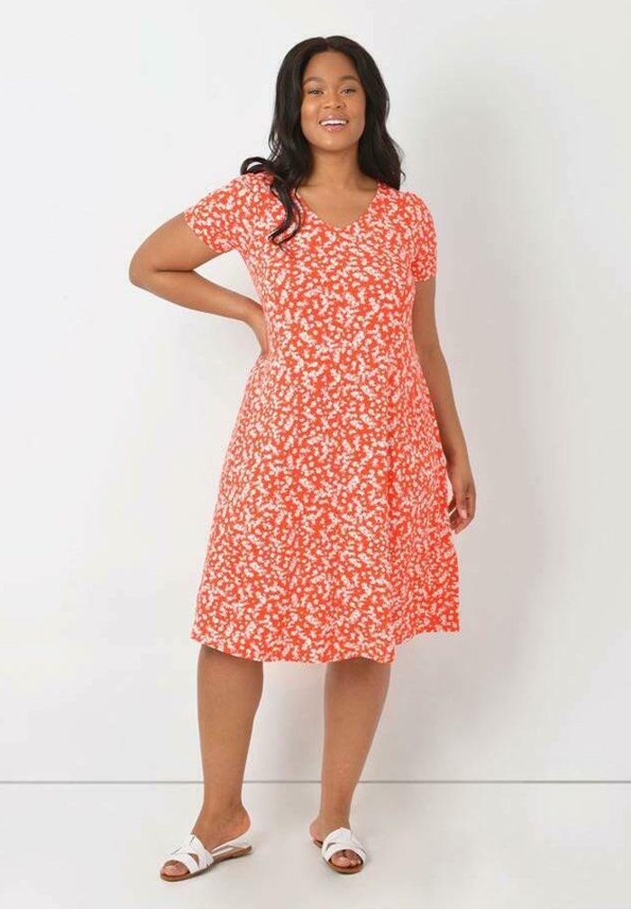 Live Unlimited London - Jersey dress - red