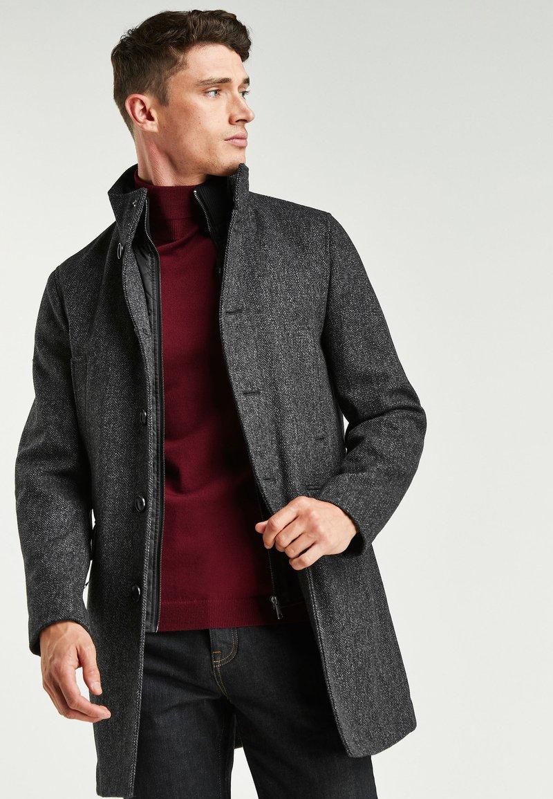 Next - FUNNEL NECK - Short coat - grey