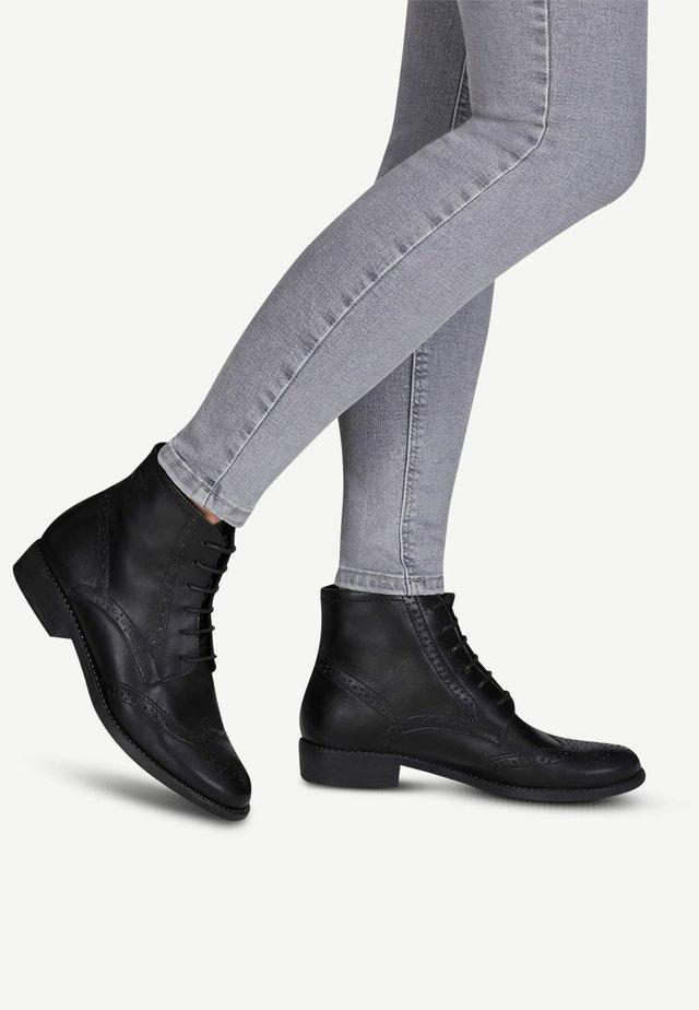 WOMS  - Bottines à lacets - black
