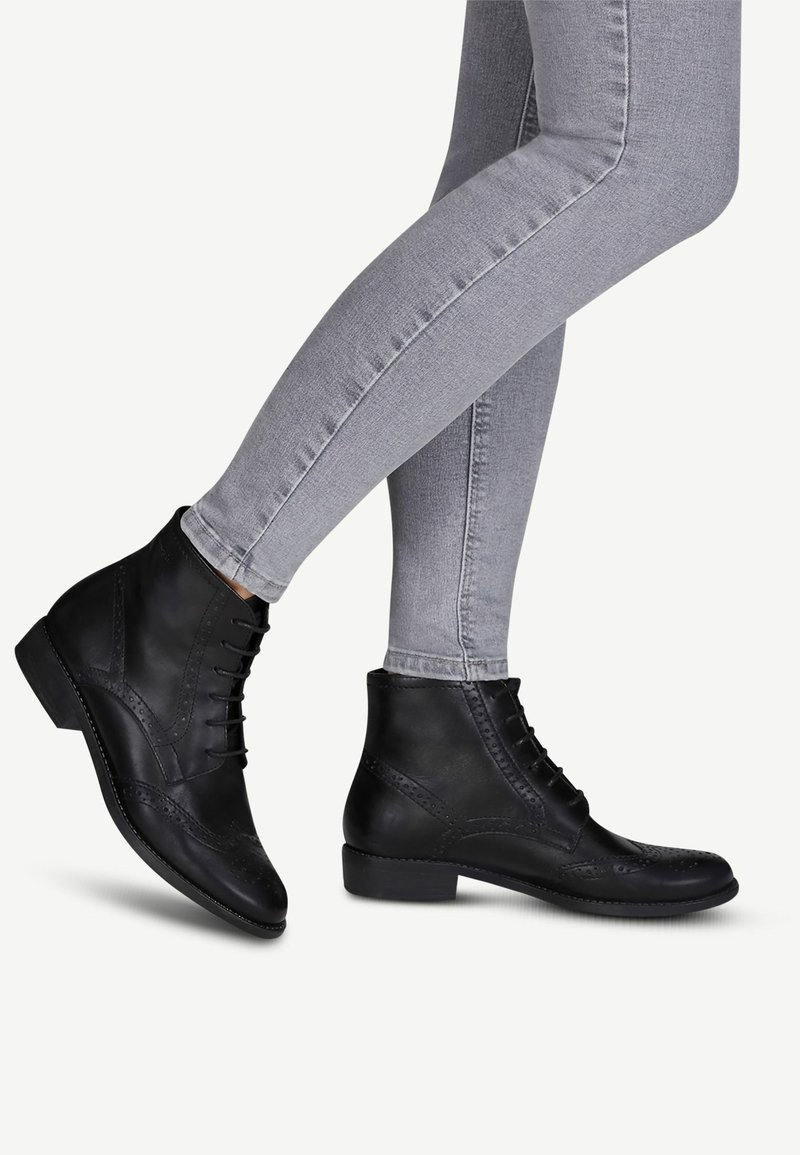 Tamaris - WOMS  - Lace-up ankle boots - black