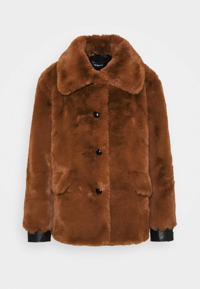 Winter jacket - cognac