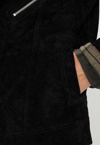 Jack & Jones - JORDANE - Leather jacket - black - 5