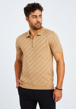 Polo shirt - kaffeefarben