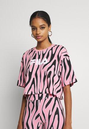 EPONA CROPPED TEE - T-shirt print - peony