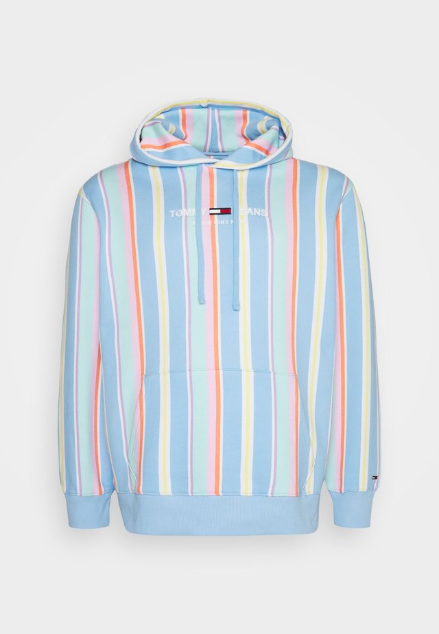 PLUS STRIPE HOODIE - Sweatshirt - light powdery blue