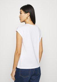 Anna Field - 3 PACK - T-shirts - black/white/khaki - 2