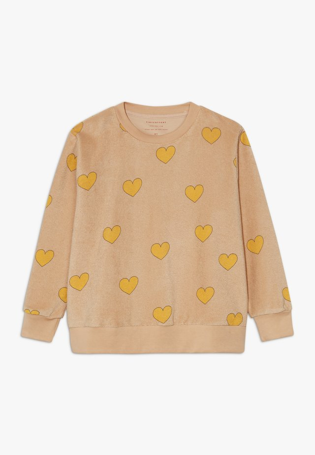 HEARTS  - Sweatshirt - nude/yellow