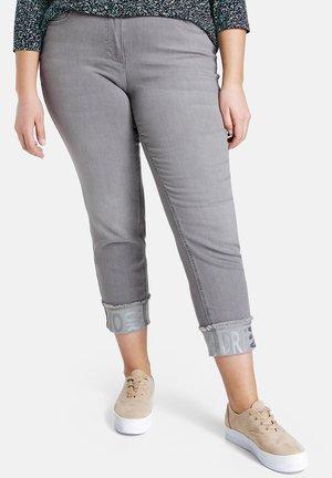 mit Turn-up - Trousers - light grey denim
