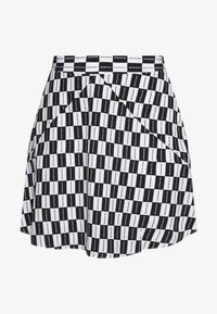 Calvin Klein Jeans - CHECKER BOARD SKIRT - A-line skirt - black/white - 3