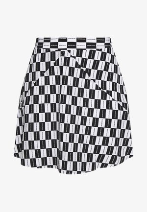 CHECKER BOARD SKIRT - A-line skirt - black/white