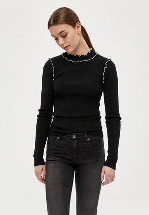 GRY  - Stickad tröja - black
