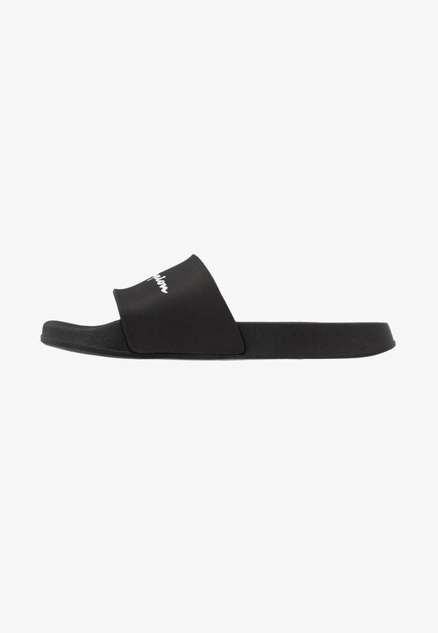 BELIZE - Badslippers - black/white