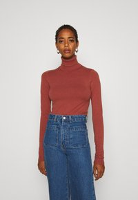 Vero Moda Tall - VMHAPPY BASIC ROLLNECK - Jumper - mahogany - 0