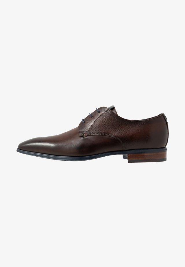 Elegantní šněrovací boty - porcino/tissu/mon