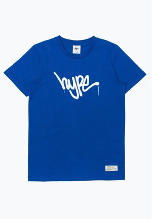 GRAFFITI - T-shirt z nadrukiem - blue/white