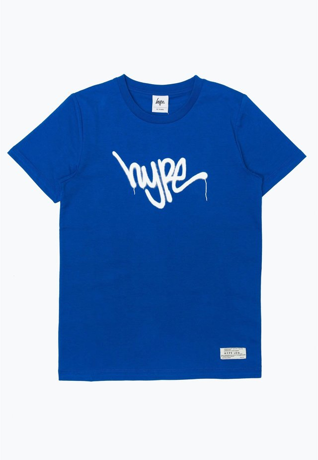 GRAFFITI - T-shirt imprimé - blue/white