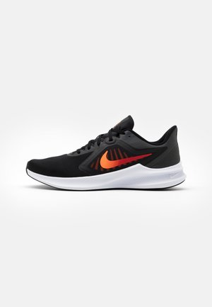 DOWNSHIFTER 10 - Neutral running shoes - black/total orange/gym red